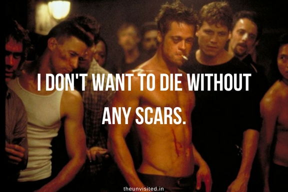 the unvisited fight club quotes brad pitt 1