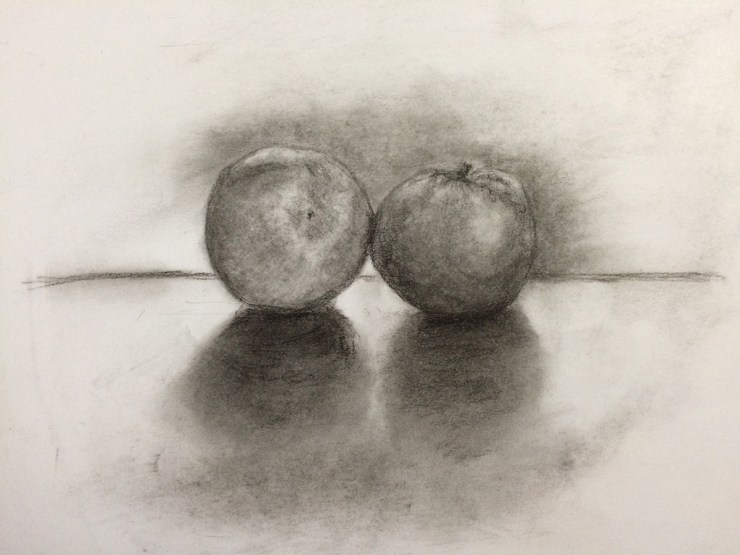 """""""Tangerines"""" by L.S. King, part of the final drawing critique."""