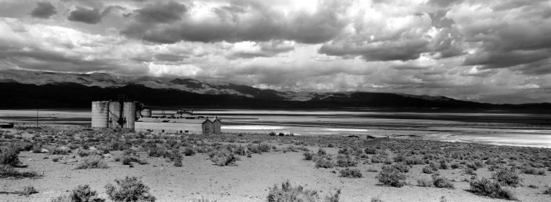 U.S. Route 385, Soda City, California, May 2016 by Robert Jones. Hasselblad Xpan / Fujinon 45mm/f4 Rollei RPX 25 Pan film