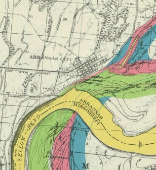 Detail of Arkansas City, from Early Stream Channels NAID 21986541