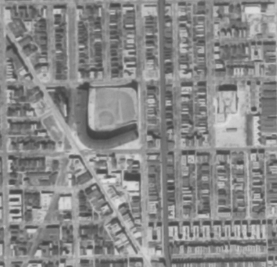 Detail of Wrigley Field 1952