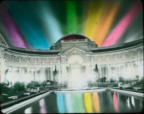 Photograph of the Panama-Pacific International Exposition at Night, 1915. Local ID: 16-SFX-85.