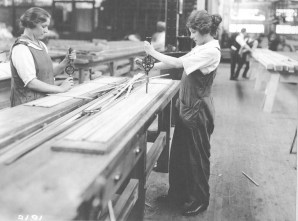 Wartime women workers in airplane factory. 165-WW-581-E1
