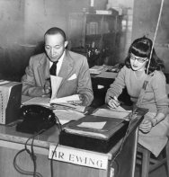 AFRO-American Newspaper of Baltimore, MD. Dec. '46 Vetrans Administration, MD. Edgar Ewig of Advisory Division. Secretary - Miss Sherley Poloway (86-WWT-26-54)