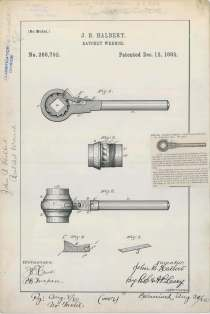 J. B. Halbert's Ratchet Wrench https://catalog.archives.gov/id/6277694