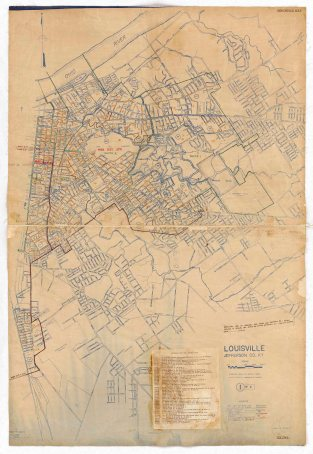 1950 Census E.D. Map Louisville page 1