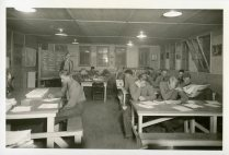 "35-GE-1G-11 ""Reading room in camp educational building"""