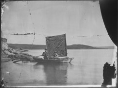 The Anna, the First Boat Launched Upon the Lake (Yellowstone). 57-HS-1287