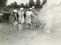 """OCD fire guard equipment at American University."" Date Taken: 1943 (Local ID: 171-OCD-313)"