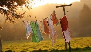 Line-drying-laundry
