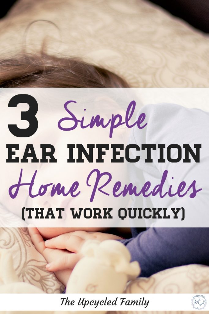 3 Natural ear infection home remedies for kids, babies (or adults) that work quick. For natural remedies for that painful ear infection with items you likely have in your kitchen right now! #earinfectionremedy #earinfectionremedyforkids #earinfectionremedyforadults #earinfectionremedyforbabies #earinfectionpainrelief #naturalremedies #earinfection