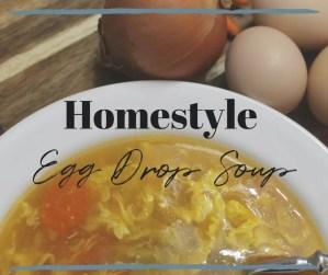 Homestyle egg drop soup