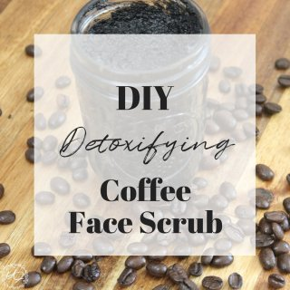 Easy DIY face scrub. This simple scrub is exfoliating and detoxifying and made with ingredients you most likely have in your kitchen right now!