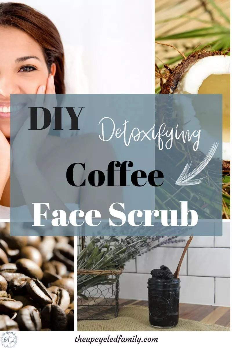 DIY detoxifying coffee face scrub