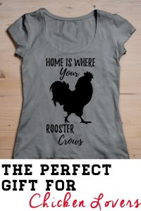 Home is where your rooster crows. Cute chicken loving humor in a trendy t-shirt for every chicken lover.