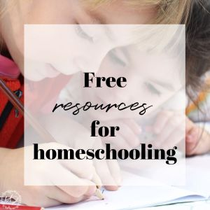 big list of free resources for homeschooling
