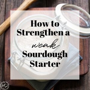 sourdough starter troubleshooting- strengthen a weak starter