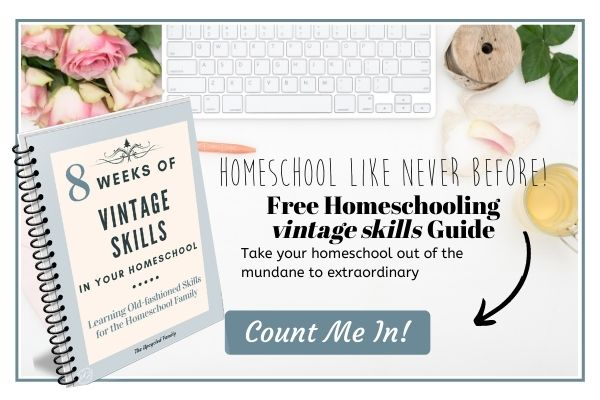 homeschooling with old-fashioned skills