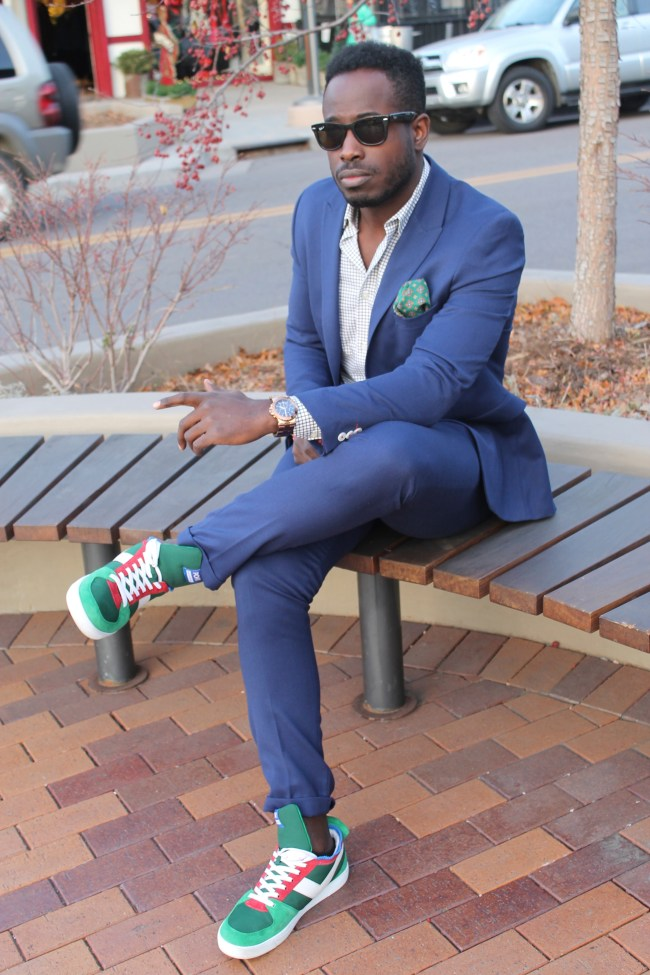 The Upper Echelon Sneakers with Suit 7