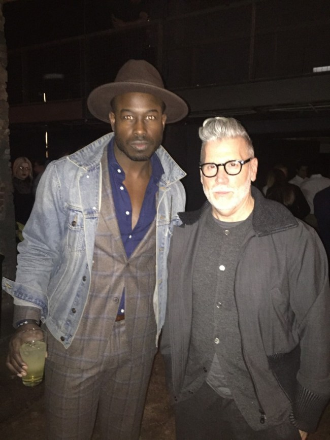 Justin Great and Nick Wooster New York Mens Fashion Week 2016 NYFWM