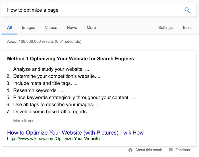 example search google