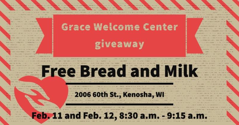 giveaway; grace welcome center; kenosha journalist; uptown observer
