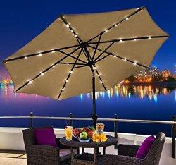 patio umbrella solar lights the urban