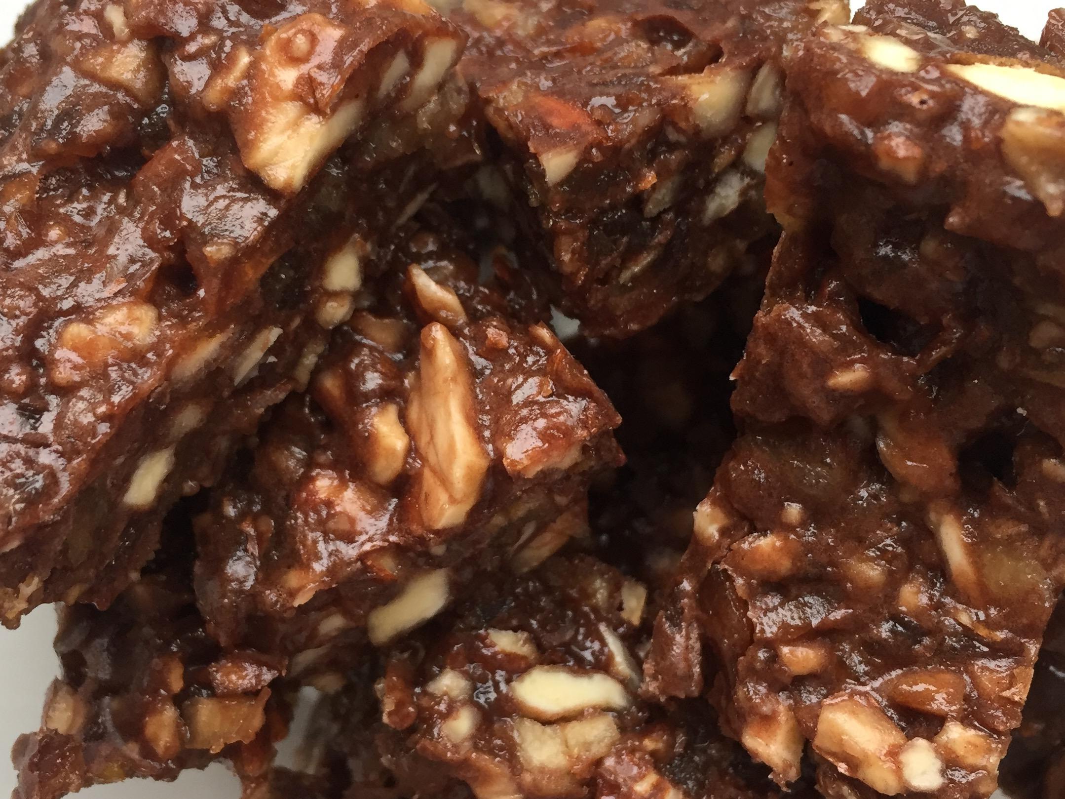 Chocolate Almond Fudge Bites