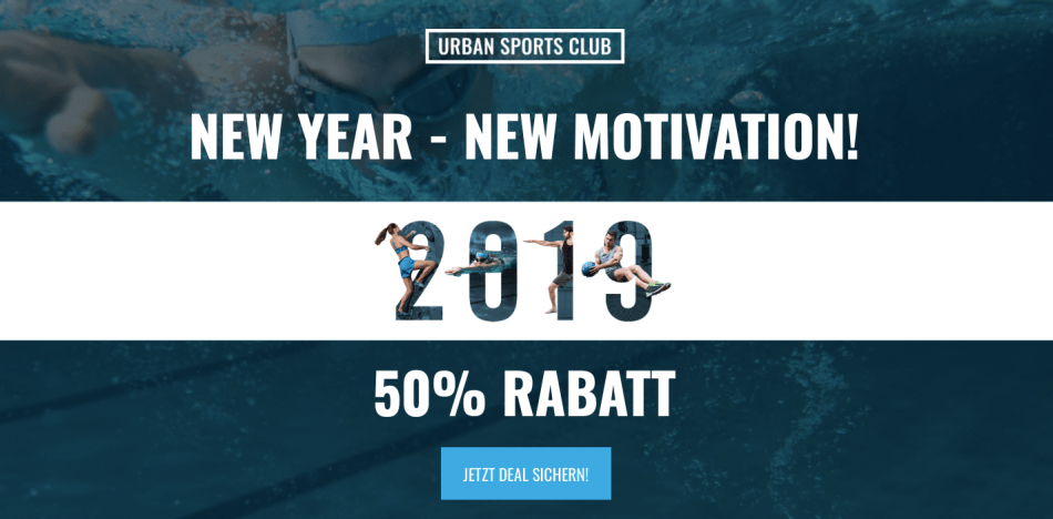 Urban Sports Club Neujahrsaktion -50%
