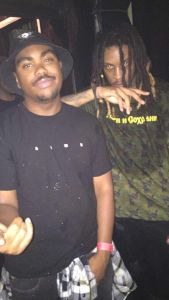 Chris Travis and I at The Roxy Theater in Hollywood for his 2016 Shark Boy release party