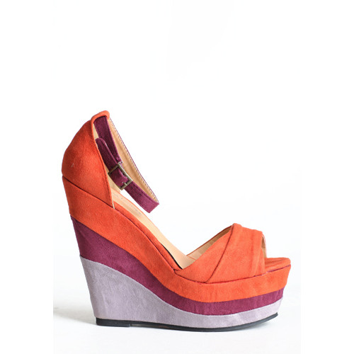 COLORBLOCK| Sherbet Colorblock Wedges, $29,available at threadsence.com