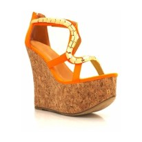 NEON| Open Toe Cork Wedges, $45, available at gojane.com