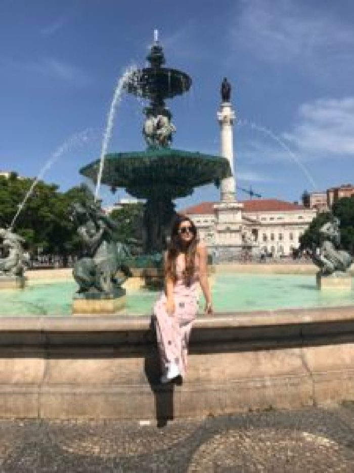 Lisbon, Portugal, Rossio square, famous, square, colorful, history Europe, explore, travel, wanderlust, theatre, statue, fountain, tourists, fashion