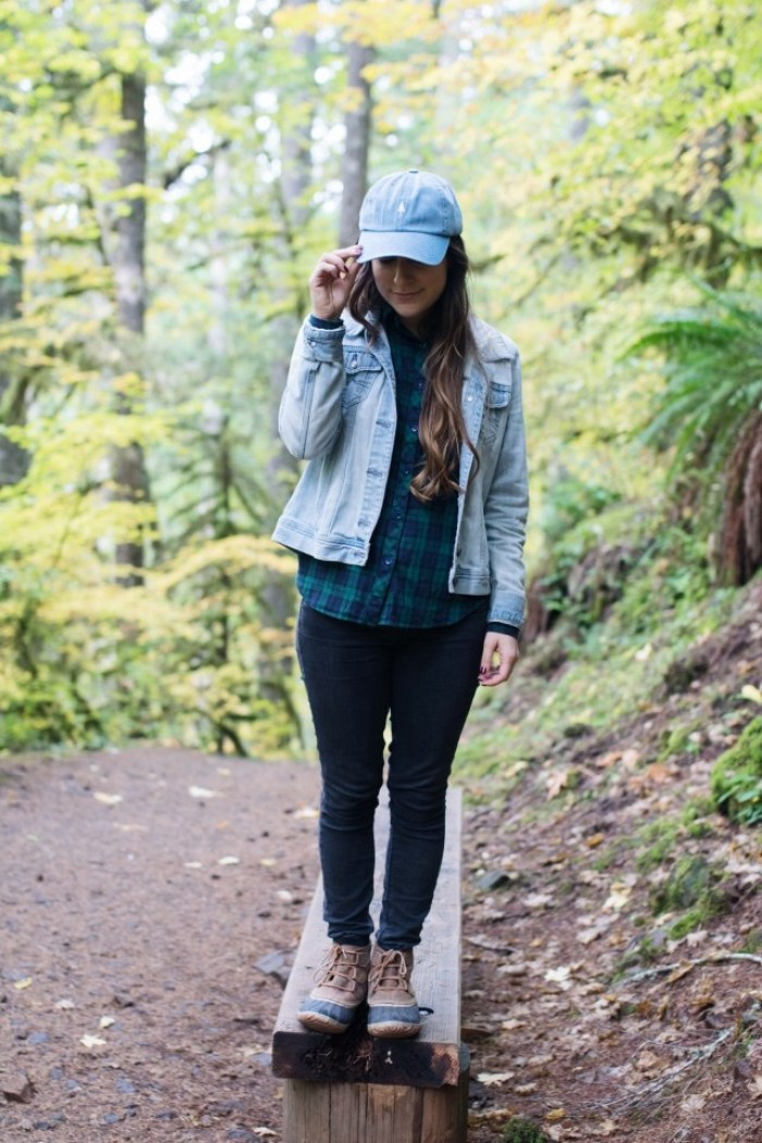 oregon, silver falls state park, trail of ten falls, road trip, hike, hiking, friends, family, adventure, wanderlust, Tinlid Hat Company, denim, hat, flannel, denim hat, outdoor vibes