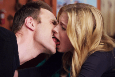 an awkward kiss
