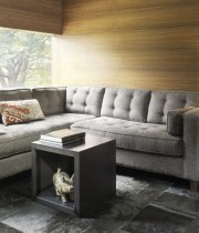 Exciting-Living-Room-Corner-Decoration-Ideas-with-Grey-Sectional-Sofa-and-Grey-Wood-Magazine-Table-and-Grey-Granite-Tile-Flooring-also-Wooden-Wall-Panel-915×685