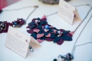 colier piele naturala pietre semipretioase urban bouquet sashaccessories