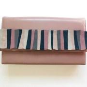 geanta piele roz prafuit mydreambag accesoriu detasabil roz verde AGS004  sashaccessories
