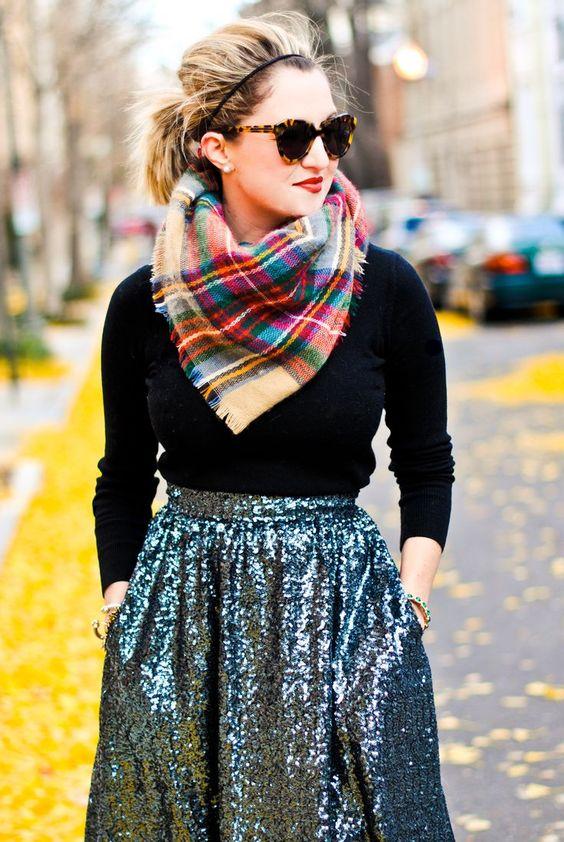 how to wear sequins full skirt theurbandiva blog