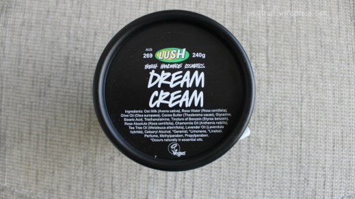 Dream Cream ingredients