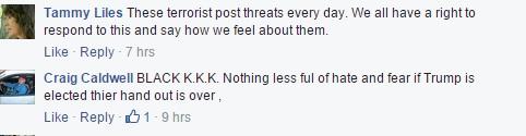 terrorist  black kkk