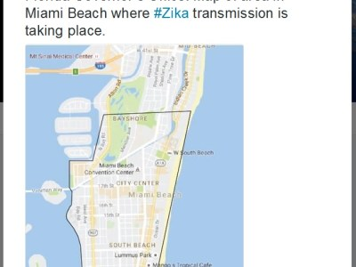 miami zika area