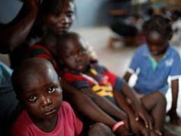 Displaced children in Haiti