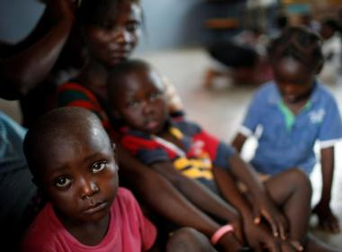 Displaced children in Haiti