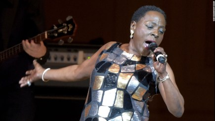 """Sharon Jones, (60) the soul and funk singer who has been called """"the female James Brown"""" passed away November 18,2016 of pancreatic cancer."""
