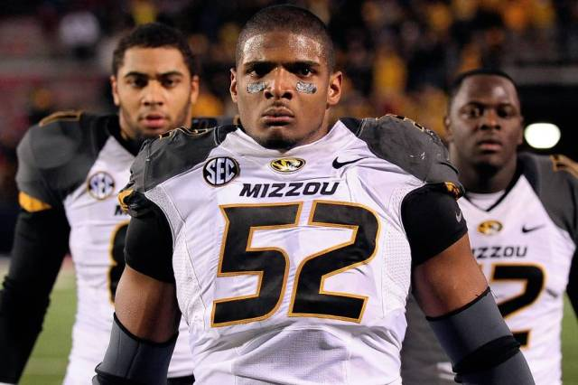 Michael Sam was the first openly gay player drafted into the NFL. His onscreen kiss with his then boyfriend when drafted, sparked much controversy.