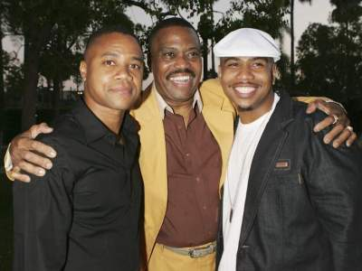 Cuba Gooding Snr. with sons, Omar and Cuba Gooding, Jr.