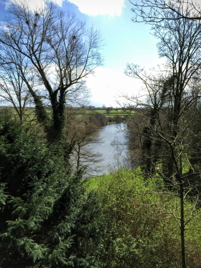 The after shot showing the same view of the River Wye in the sunshine only 6 minutes later!