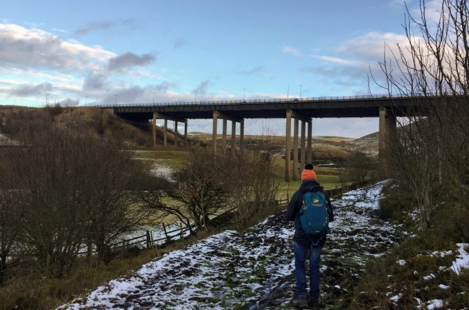 Snowy views on a circular walk in Littleborough