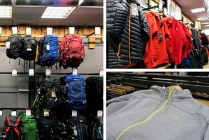 The range of products at Go Outdoors Preston